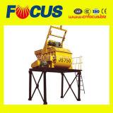Misturador 750L concreto horizontal durável da qualidade com eixo gêmeo