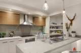Brame blanche artificielle de quartz pour le dessus de partie supérieure du comptoir/cuisine