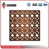 Декоративные высеканные CNC панели экрана алюминиевые Ideabond