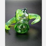 De groene Waterpijp van het Glas voor de Pijp van de Hoorn van het Recycling van de Tabak van de Filter