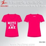 Healong Spitzenverkaufs-Sportkleidung kundenspezifisches Silk Bildschirm-Drucken-T-Shirt