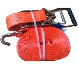 Двойной J крюк крепления грузов с храповым механизмом крепления ремешка