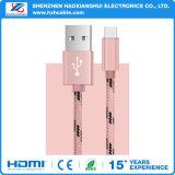 Soem-umsponnener Nylontyp c-schnelle Ladung USB-Datenleitung Kabel