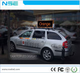 전시를 광고하는 P2.5 P5 LED 택시 상단 또는 지붕