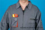 Roupa de trabalho longa barata da alta qualidade da luva da segurança do poliéster 35%Cotton de 65% (BLY2007)