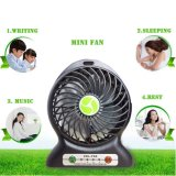 Ventilador recarregável portátil, mini ventilador USB com bateria de lítio de 1800mAh, ventilador de mesa, ventilador de bateria, ventilador pessoal, ventilador de viagem pequeno, ventilador externo