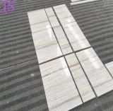 Mármore de madeira branco de cristal da pedra da grão