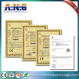 Mini certificado del megaciclo ISO14443A de la etiqueta 13.56 del lavadero del Hf RFID del redondo para la ropa