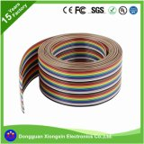 18AWG coloré sur le fil électrique / plat / câble conducteur en cuivre Rainbow 80c Isolant en PVC