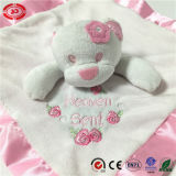 Kundenspezifisches Type mit Ribbon Under Side Soft Baby Care Blanket