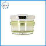 卸し売りクリーム色の瓶の美の容器を包む化粧品