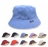 Coton blanc ordinaire multi couleurs bon marché de la promotion des chapeaux de godet personnalisé