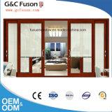 Сделано в изготовлении раздвижной двери Tempered стекла Китая алюминиевом двойном