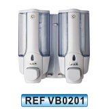 De dubbele Plastic ABS Muur Opgezette Automaat van de Zeep van de Houder Vloeibare (VB0201)