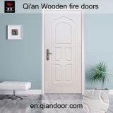 Porte en bois de blanc d'incendie de type européen intérieur