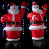 S надувной Санта Клауса в рекламе