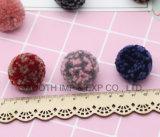 Materiale di qualità superiore di modo fatto del Pompom lanuginoso del filato