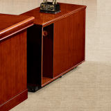 현대 가구 자연적인 버찌 목제 베니어 두목 테이블 사무실 나무로 되는 책상