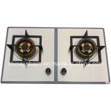 2 Gas Hob건축하 에서 가열기 730 Length 색깔 Coated Stainless Steel