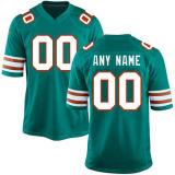 Майами Джарвис Landry Ларри Csonka Elite Aqua настроенных футбольных футболках NIKEID