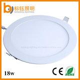 18W haute Lumens Embedded SMD2835 rond mince lumière LED lampe de plafond Éclairage Économie d'énergie