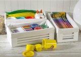 3 [بكس] نظيفة أسلوب حمّام غرفة جميلة بيضاء [ووودن كرت] تخزين مجموعة