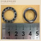 단화 훈장 금속 작은 구멍을%s 22mm 모조 다이아몬드 작은 구멍