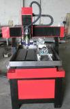 Mini ranurador del CNC 6090 con rotatorio para el metal suave del grabado