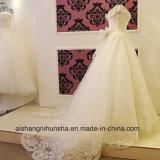 Роскошный кружевной цветок принцессы свадебные платье с валика клея на лодке горловины