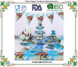 Мультфильм Группа посуда чашки пластины соломы салфетки конфеты баннер флаги детский день рождения украшения предметов снабжения
