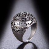 Rhodium van de Prijs van de fabriek de Ring van de Juwelen van het Email van de Gravure