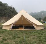 tenda di Bell di lusso del Teepee di 4m-6m della tela di canapa impermeabile a prova di fuoco della tenda con il foro della stufa