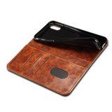 Retro Geval van de Telefoon van de Magneet van het Leer van Pu Mobiele voor iPhone X
