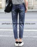 Frauen-Kleidung-Qualitäts-blaue zerrissene Jeans-Denim-Hose