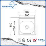 Edelstahl gepresste einzelne Filterglocke-Küche-Wanne (ACS3835)