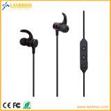 Fone de ouvido magnético de pouco peso de Bluetooth do interruptor do sensor