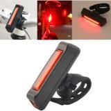 Comercio al por mayor de la luz de la bicicleta personalizada Amazon recargables USB 120lm 4 Modo de cola de profesionales de la luz trasera de bicicletas