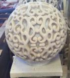 Lampen-Laterne der Sandstein-Skulptur-Kugel-LED mit Audiolautsprecher