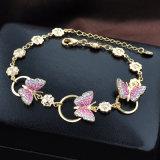 De recentste Armband van het Kristal van de Vlinder van het Ontwerp Goud Geplateerde voor Meisjes