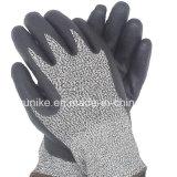 Anti-Cut Терри рабочие перчатки из латекса с дохода