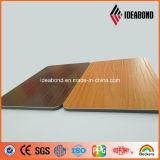 Панель украшения украшения мебели Ideabond деревянной выбитая отделкой алюминиевая