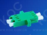 Adaptador de una sola pieza óptico de fibra LC/APC