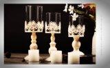 Oco clássica Custom vidro branco titulares de velas