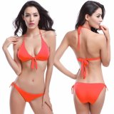 Offre spéciale de gros triangle Halter Bikini maillots de bain multicolore