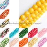 Prix bon marché Multicolor facettes de la pierre ronde teints perles de jade de pierres précieuses pour bracelets Necklace Earrings