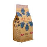 Fermeture à glissière à fond plat imprimé personnalisé papier en plastique Sac de l'emballage alimentaire