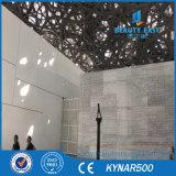 4 mm de haute qualité en aluminium à revêtement PVDF panneau solide mur-rideau