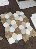 Mattonelle di mosaico di marmo Mixed del taglio del getto di acqua di disegno del fiore