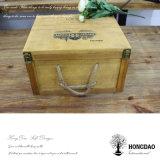 Doos van de Wijn van de Verkoop van Hongdao de Hete Houten voor 6 Bottles_D