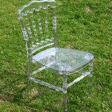 Resina de plástico transparente Napoleon Cadeira de aluguel de eventos